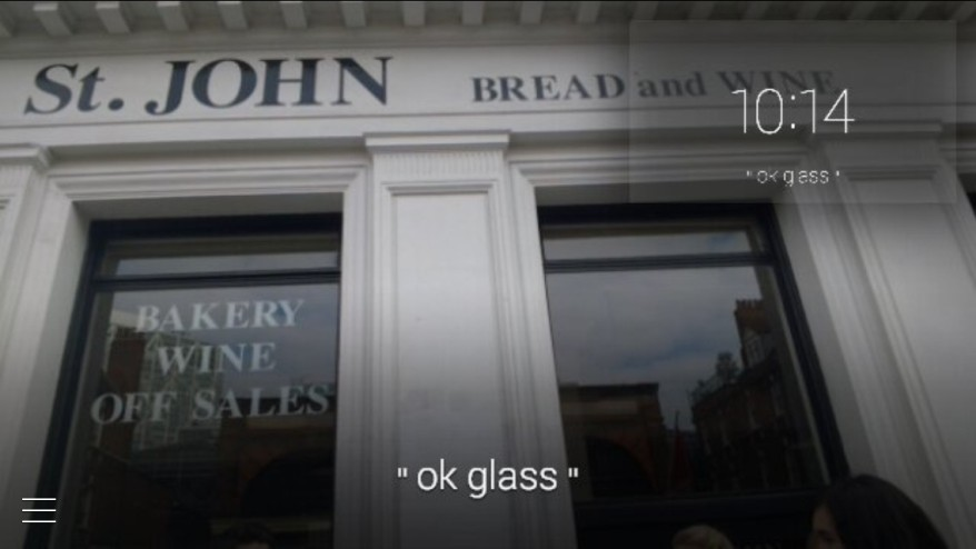 London through Google Glass