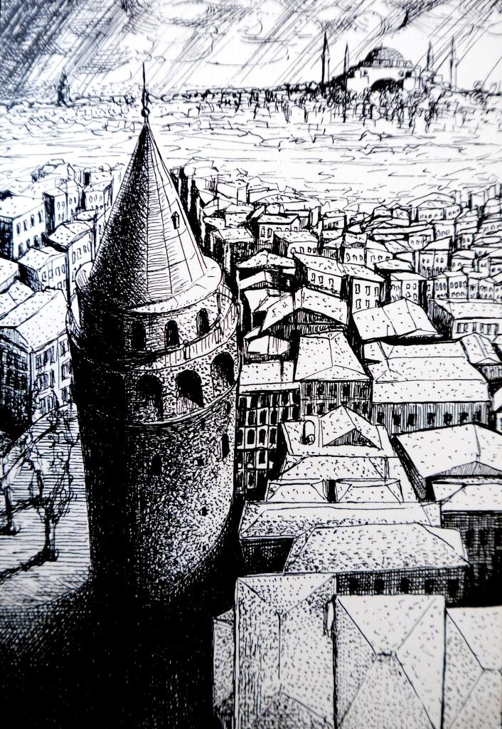 Galata Tower Istanbul Postcard