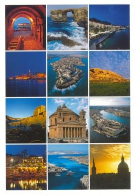 Malta postcard collage of photos