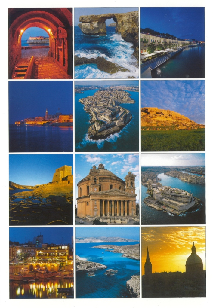 Malta postcard collage of photos