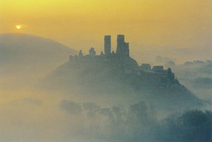 Corfe Castle Dorset postcard