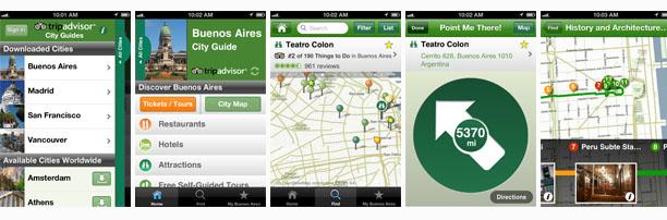 TripAdvisor Offline City Guide iOS app