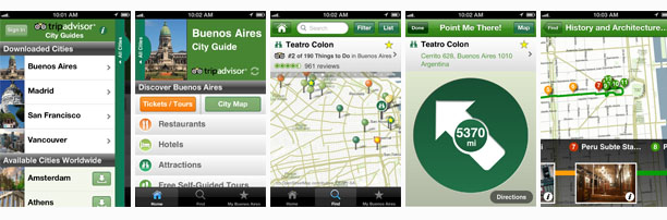TripAdvisor Offline City Guide iOS app