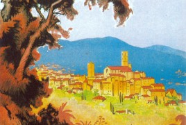 Grasse French Riviera Art Deco poster copy
