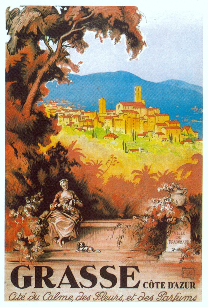 Grasse French Riviera Art Deco poster