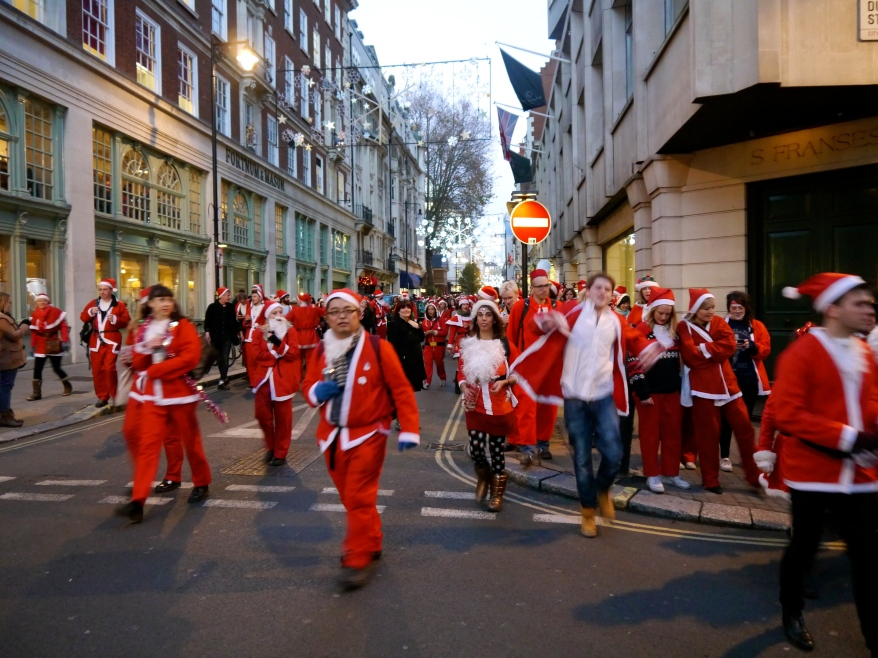 SantaCon father christmas in London