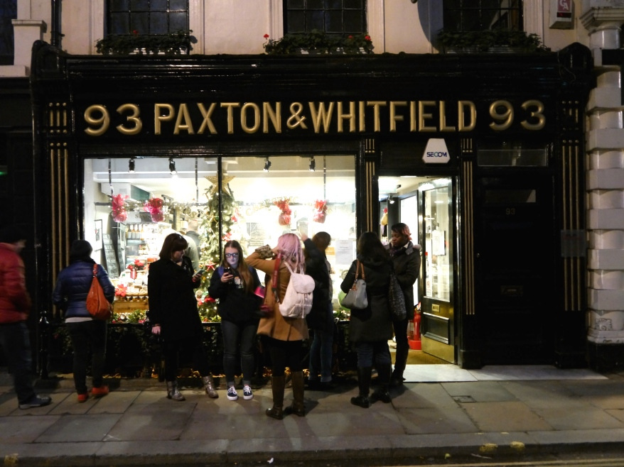 Paxton & Whitfields cheese shop in Jermyn Street