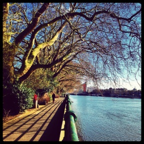 The Thames Path in Bishops Park