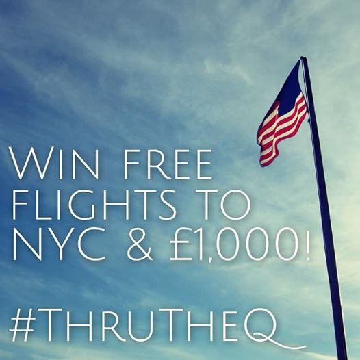 Win flights to New York #ThruTheQ