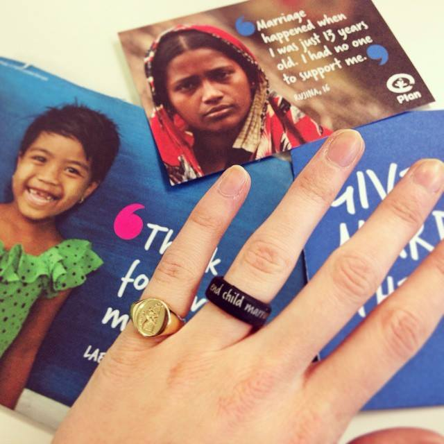 #EndChildMarriage ring campaign Plan UK