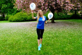 Virginia Stuart-Taylor runs the Athens Marathon for Plan UK