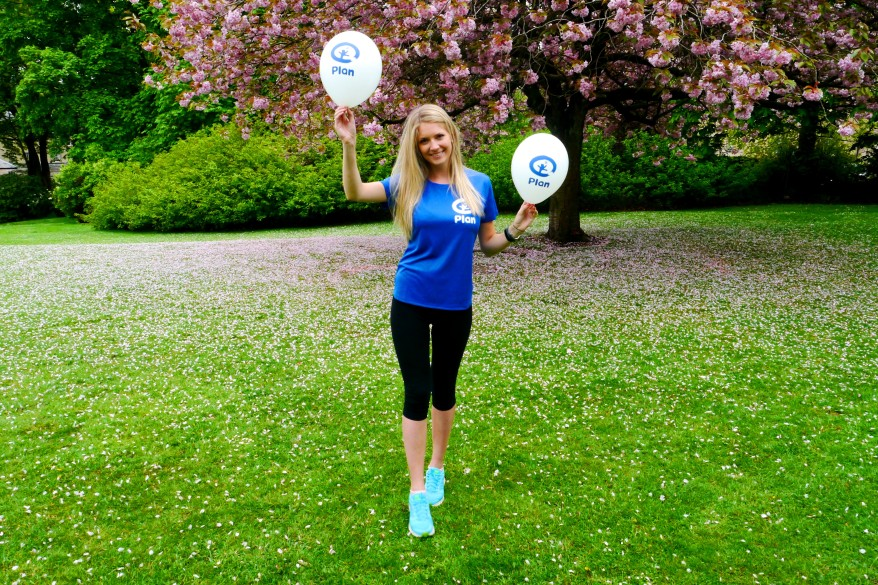 Virginia Stuart-Taylor runs the Athens Marathon for Plan UK
