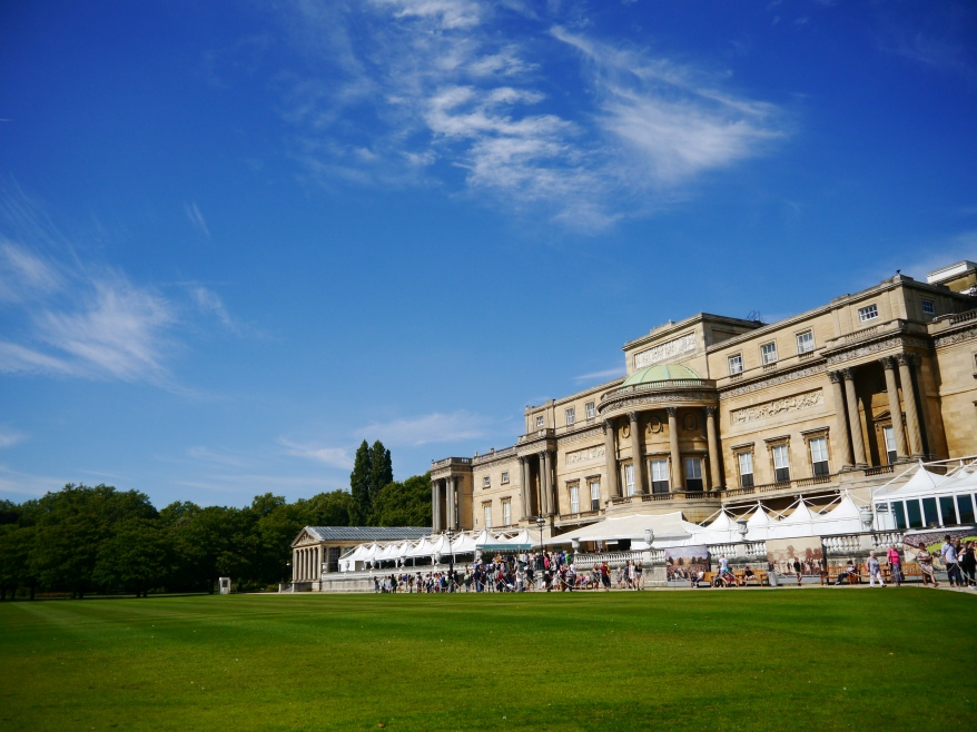 Buckingham Palace view from garden