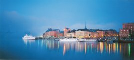 Stockholm waterfront postcard