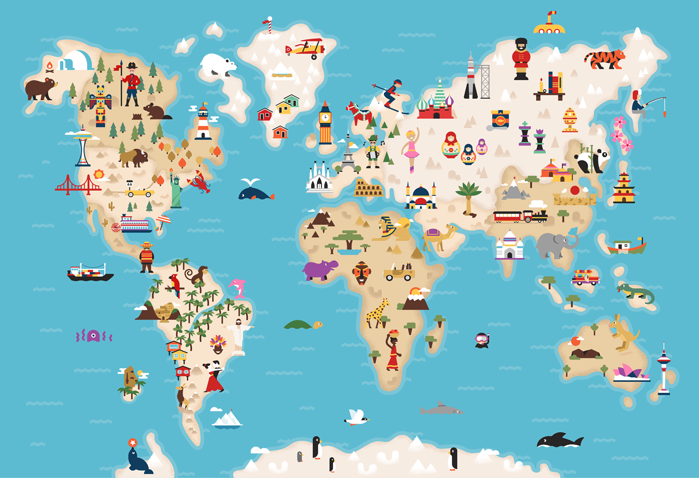 Disney Movie World Map.All About This World Map Shows Where Every Disney Movie Is Set Www