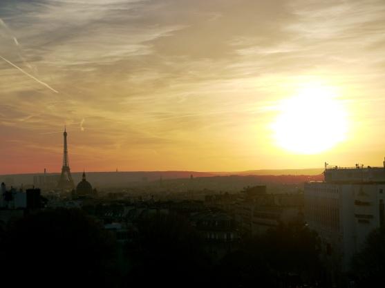 Paris Eiffel Tower from Sacre Coeur
