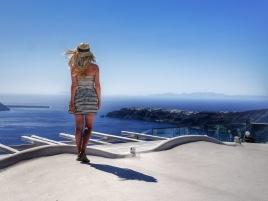 Santorini rooftops view