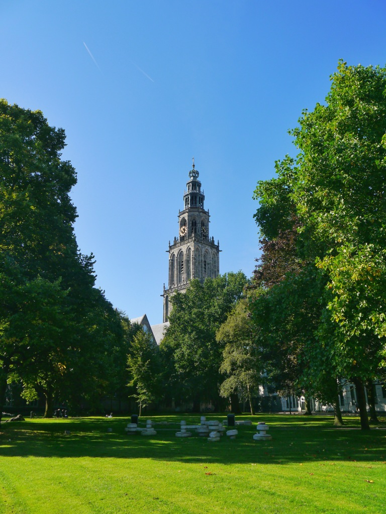 Martinitoren bell tower in Groningen