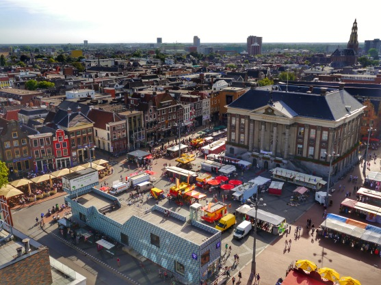 Groningen Grote Markt from the bell tower