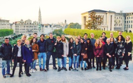 Euroculture group photo in Brussels