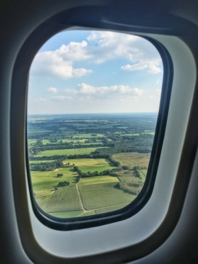 View from the plane of Groningen