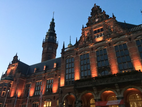 Academy Building Groningen University at night