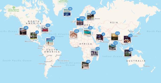 Instagram world map