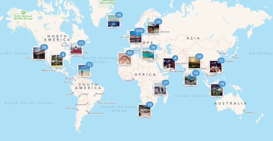 Instagram world map