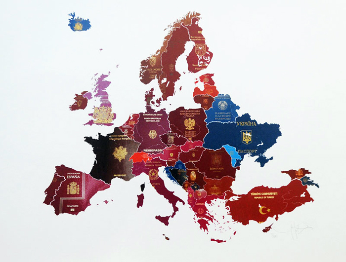 european passport map