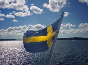 Swedish Flag in Stockholm Archipelago