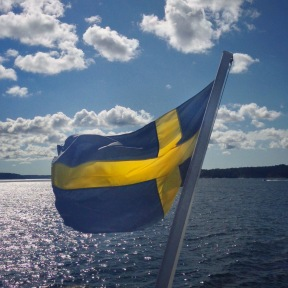 Swedish Flag in Stockholm Archipelago