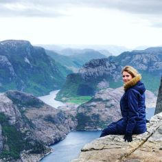 Another_from_Preikestolen__looking_out_over_the_fjords__I_honestly_think_I_d_never_tire_of_these_views__._Preikestolen_is_in_the_south-west_of_Norway_not_too_far_from_Stavanger._Very_nea