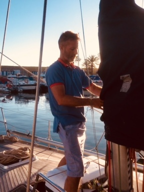 2018 Jan Christoph preparing boat