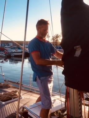 2018 Jan Christoph preparing boat