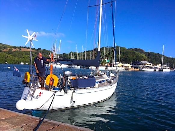 2018 Jan Skipper on Kurukulla English Harbour