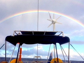 2018 Rainbow over stern