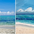 Mondello Beach Sicily painting2
